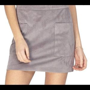 Gentle Fawn Front Pocket Stretch Mini Skirt Opal